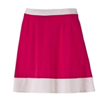 Puma Flare Skirt - Rose Red/White