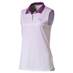 Puma 3D Stripe Sleeveless Polo - Purple Cactus Flower