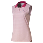 Puma 3D Stripe Sleeveless Polo - Rose Red