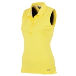 Sunice Kadee Jacquard Coollite Sleeveless Polo - Mellow Yellow