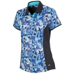 Sunice Abigail Coollite Short Sleeve Polo - Blue Water
