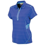 Sunice Scarlett Coollite Short Sleeve Polo - Violet Blue/Blue Water