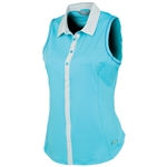 Sunice Sydney Coollite Sleeveless Polo - Blue Water