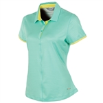 Sunice Hannah Coollite Short Sleeve Polo - Spearmint Stripe