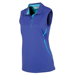 Sunice Erin Coollite Sleeveless Polo w/ Mesh - Violet Blue
