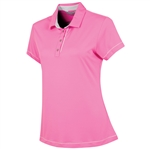 Sunice Maureen Coollite Sew Free Back Mesh Polo - Neon Pink/Oyster