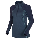 Sunice Pomona Stretch Athletic Pullover - Midnight/Spearmint