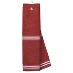 Just4Golf Red Stripe Waffle Towel