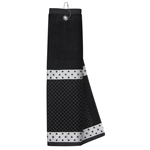 Just4Golf Black Polka Dot Waffle Towel