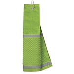 Just4Golf Lime Stripe Waffle Towel
