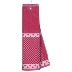 Just4Golf Light Pink Polka Dot Waffle Towel