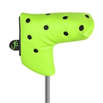 Just4Golf Blade Putter Headcover - Lime/Black
