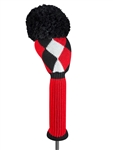 Just4Golf Red/Black Diamond Driver Headcover