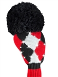 Just4Golf Sparkle Driver Headcover - Red/Black Diamond