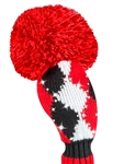 Just4Golf Sparkle Red/Black Diamond Hybrid Headcover