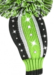 Just4Golf Sparkle Vertical Lime/Black Hybrid Headcover