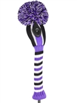 Just4Golf Vertical Stripe Purple/Black Hybrid Head Cover