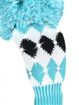 Just4Golf Sparkle Diamond Turquoise/Black Fairway Headcover