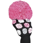Just4Golf Luxe Driver Headcover - Large Dot Pink