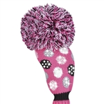 Just4Golf Luxe Medium Dot Pink Fairway Headcover