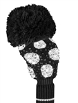 Just4Golf Luxe Driver Headcover - Sparkle Black/White