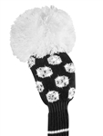 Just4Golf Luxe Fairway Headcover - Sparkle Black/White