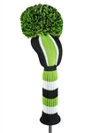 Just4Golf Vertical Lime Stripe Driver Headcover