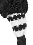 Just4Golf Sparkle Black/White Wide Stripe Fairway Head Cover