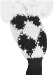 Just4Golf Sparkle Diamond Black/White Hybrid Headcover