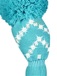 Just4Golf Sparkle Chevron Turquoise Driver Head Cover