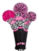 Loudmouth Savage Flamingos Head Cover Set (3pc)