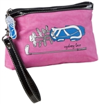 Sydney Love Pink Wristlet with Golf Club Print