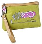 Sydney Love Green Wristlet with Golf Club Print