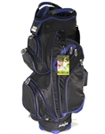 Molhimawk Black/Blue Cart Bag