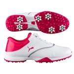Puma Blaze Disc Golf Shoe - White/Bright Rose