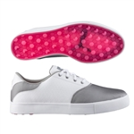 Puma Tustin Saddle Golf Shoe - Puma Silver/Beetroot