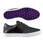 Puma Tustin Saddle Golf Shoe-Black/Royal Purple