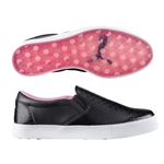 Puma Tustin Puma Black / Prism Pink Slip-on Golf Shoe