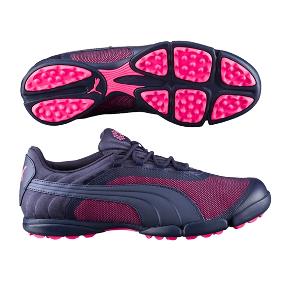 Puma Sunnylite V2 Mesh Golf Shoe - Peacoat/Knockout Pink