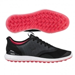 Puma IGNITE Statement Low Profile Golf Shoe - Black/Shocking Pink
