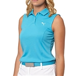 Puma Pounce Sleeveless Golf Polo - Blue Hawaiian