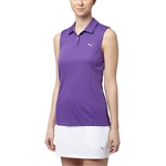 Puma Pounce Sleeveless Golf Polo - Royal Purple