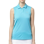 Puma Pounce Sleeveless Golf Polo - Blue Atoll