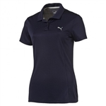 Puma Pounce Short Sleeve Golf Polo - Peacoat