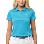 Puma Pounce Short Sleeve Golf Polo - Hawaiian Ocean