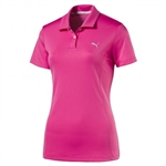 Puma Pounce Short Sleeve Golf Polo - Shocking Pink