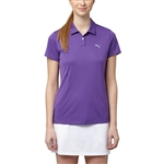 Puma Pounce Short Sleeve Golf Polo - Royal Purple