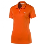 Puma Pounce Short Sleeve Golf Polo - Golden Poppy