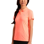 Puma Pounce Short Sleeve Golf Polo - Nrgy Peach
