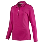 Puma Pounce Beetroot Long Sleeve Polo